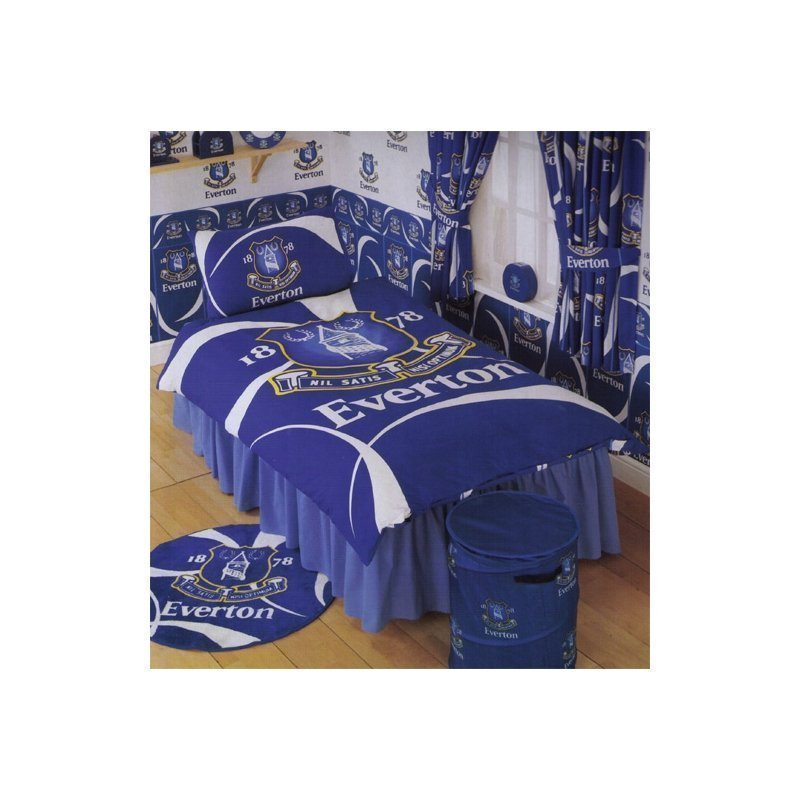 everton parure de lit housse de couette football 1 personne 140x200. Black Bedroom Furniture Sets. Home Design Ideas