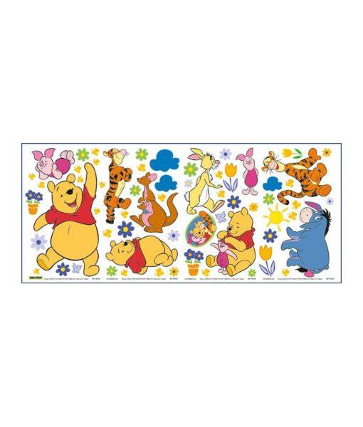 Winnie l'ourson - 63 stickers muraux adhésifs et repositionnables