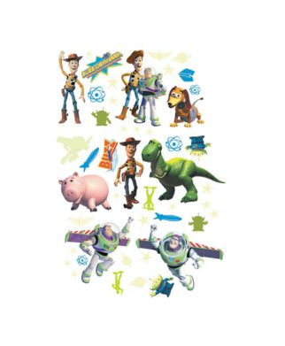 Toy Story - 50 stickers muraux adhésifs et repositionnables