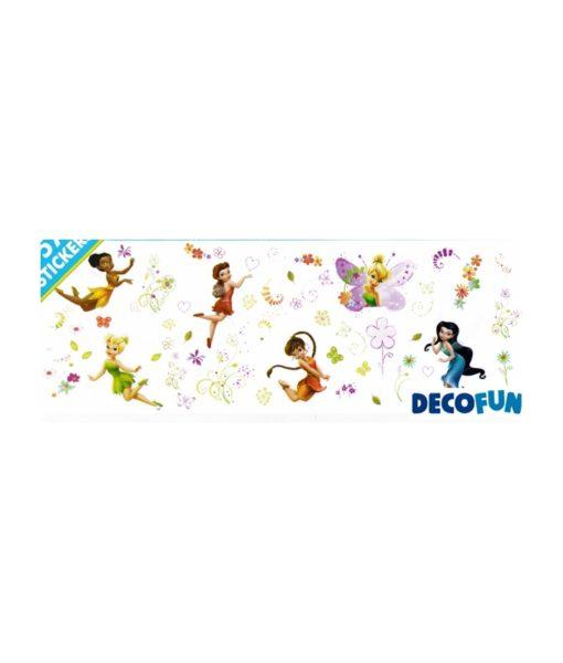 Disney Fairies - 57 stickers muraux adhésifs et repositionnables