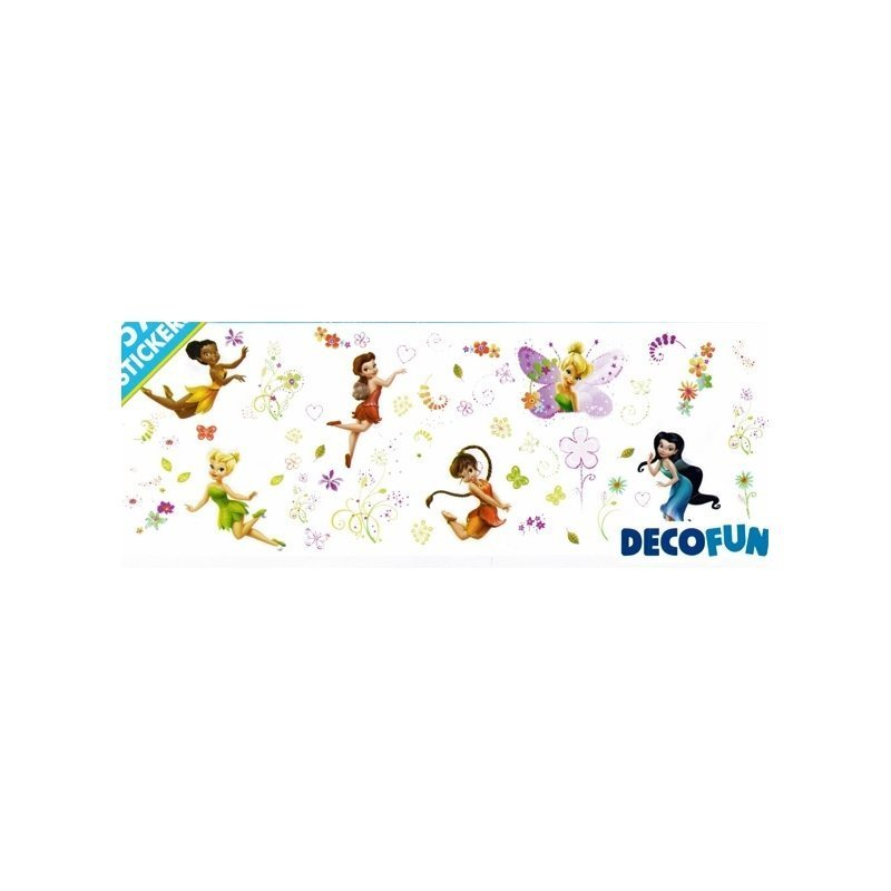 stickers f e clochette disney fairies adh sifs autocollant et repositionnables disney. Black Bedroom Furniture Sets. Home Design Ideas