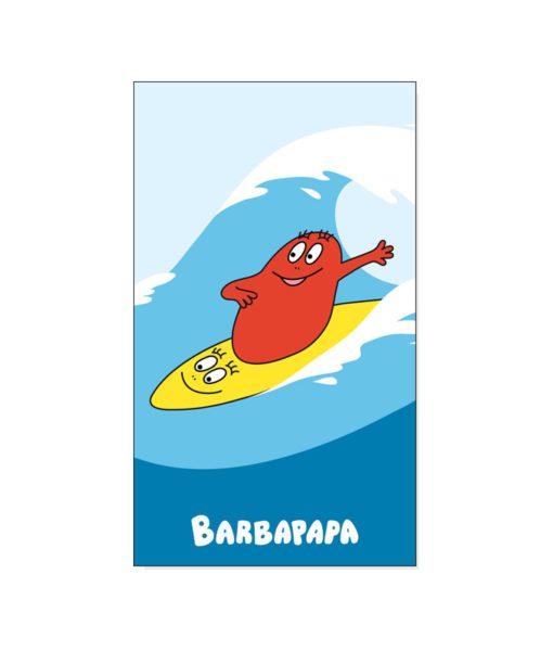 """Serviette de bain Barbapapa """"Surf"""" 70x120 cm"""