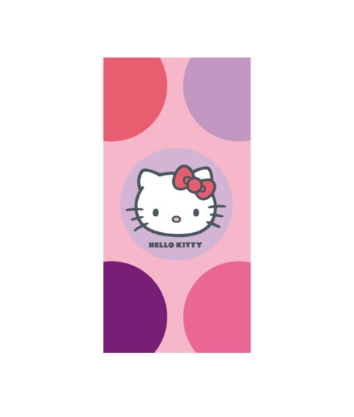 """Serviette de bain ou de plage Hello Kitty """"Sophie"""" 75x150 cm"""