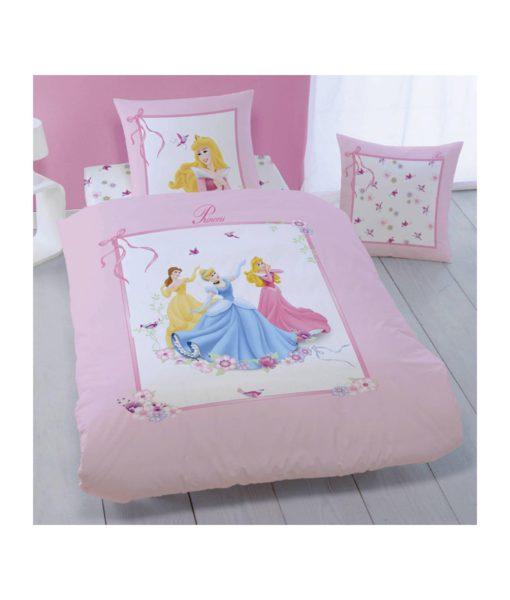 """Princesses Disney Parure de lit 1 personne """"Ruban"""""""