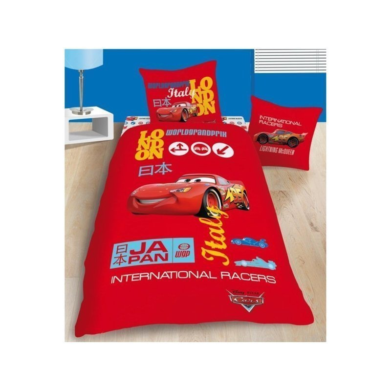 linge de lit cars grand prix disney housse de couette. Black Bedroom Furniture Sets. Home Design Ideas