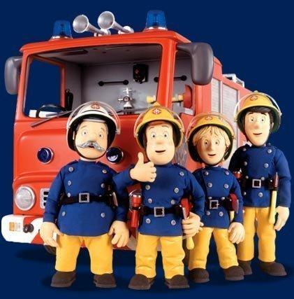 sam le pompier et ses collègues
