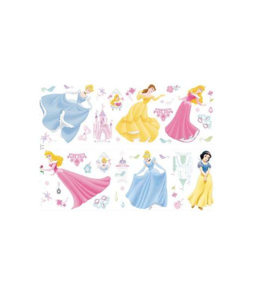 Princesses Disney - 37 stickers muraux adhésifs et repositionnables