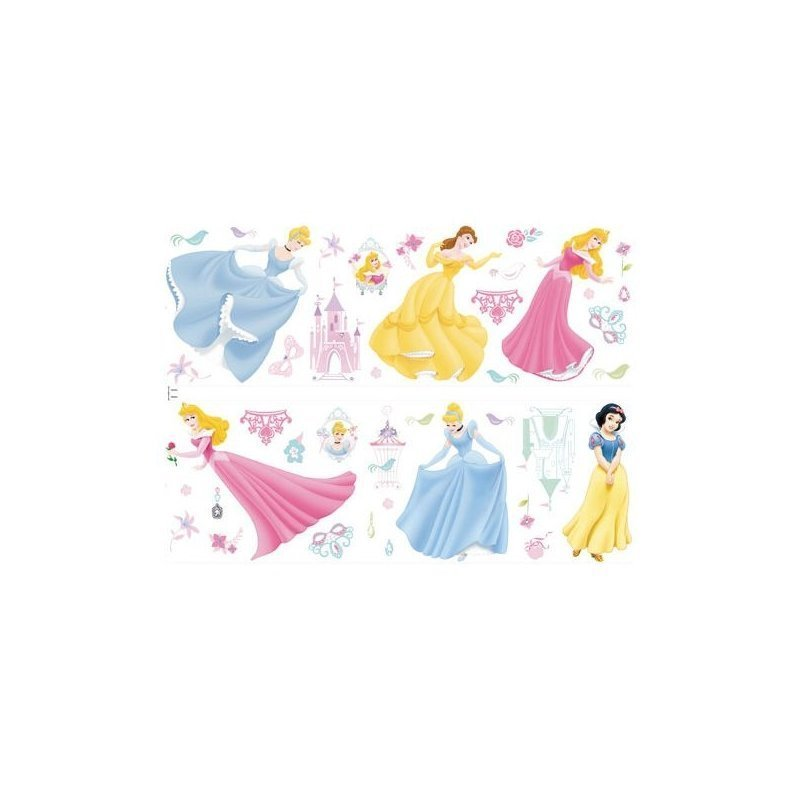 stickers princesses disney pour murs chambre fille enfant. Black Bedroom Furniture Sets. Home Design Ideas