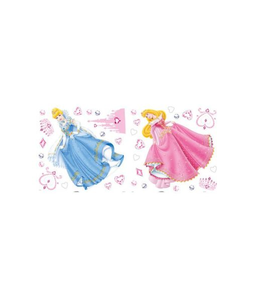 Ensemble de stickers muraux Princesses Disney