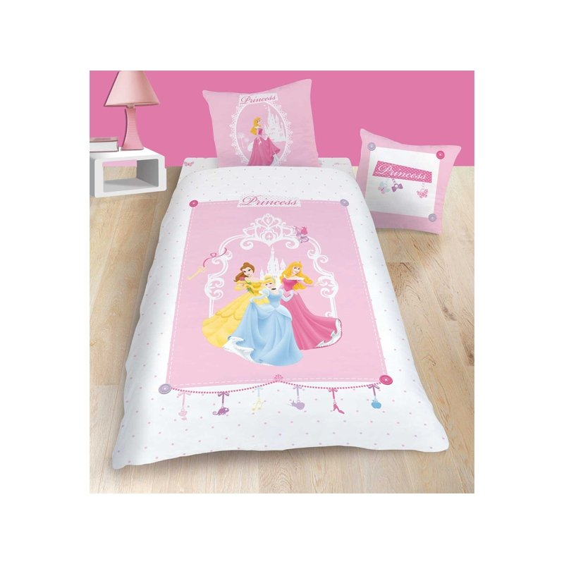 princesses disney housse de couette 1 personne 100 coton. Black Bedroom Furniture Sets. Home Design Ideas