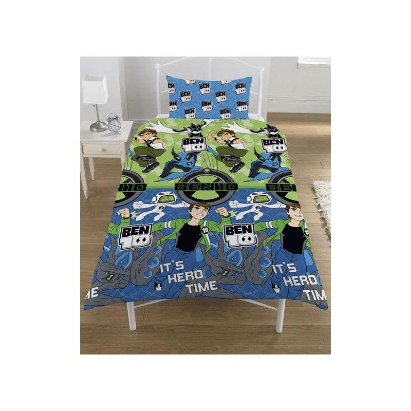 linge de lit ben 10 housse de couette ben 10   1 personne   linge de lit   décoration  linge de lit ben 10