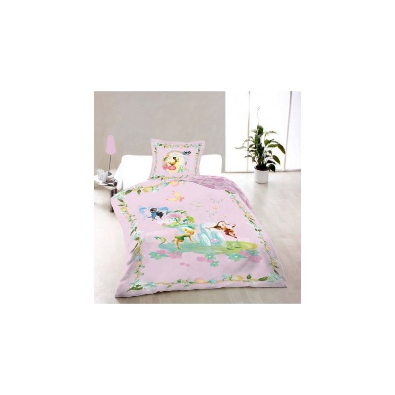 linge de lit disney fairies housse de couette 140x200 taie. Black Bedroom Furniture Sets. Home Design Ideas