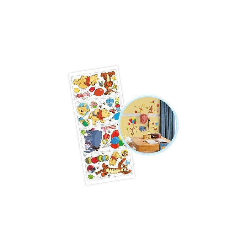 winnie l 39 ourson stickers muraux repositionnables. Black Bedroom Furniture Sets. Home Design Ideas