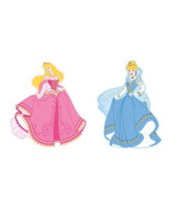 2 grandes décorations murales Princesses Disney