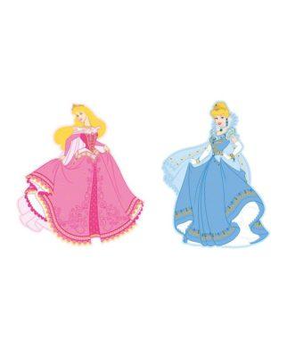 2 grandes décorations murales Princesses Disney