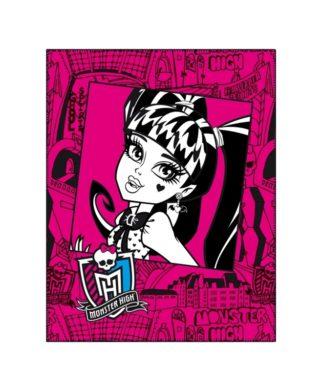 "Plaid polaire Monster High ""Pink Frame"" - 110 x 140 cm"