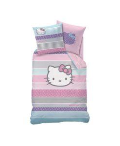 """Parure de lit Hello Kitty """"Amaya"""" 1 personne 140x200 cm"""