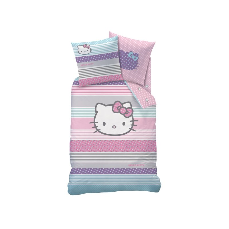 linge de lit hello kitty amaya couette pour lit 140x200. Black Bedroom Furniture Sets. Home Design Ideas