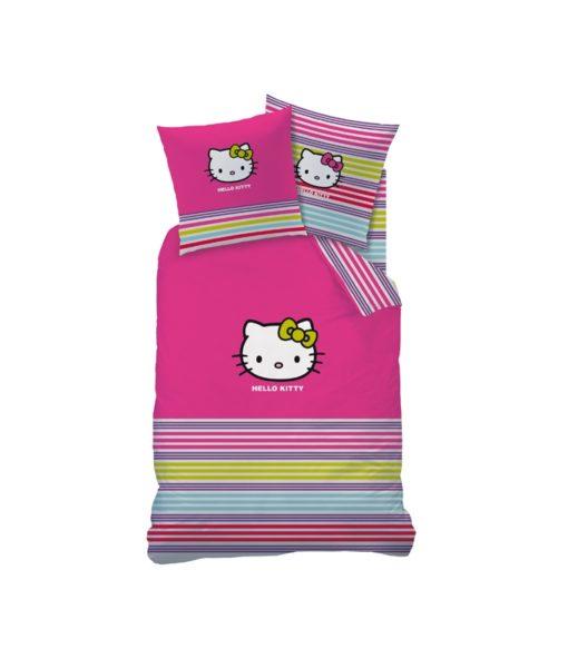 """Parure de lit Hello Kitty """"Sarah Summer"""" 1 personne 140x200 cm"""
