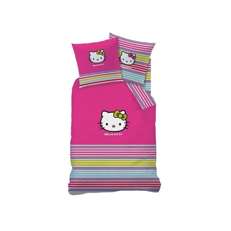 hello kitty parure de lit sarah summer pour lit 140x200 cm housse enfant. Black Bedroom Furniture Sets. Home Design Ideas