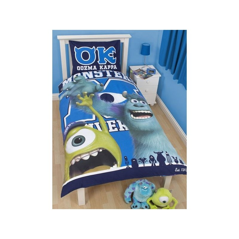 parure de lit monstres academy monsters university 1. Black Bedroom Furniture Sets. Home Design Ideas