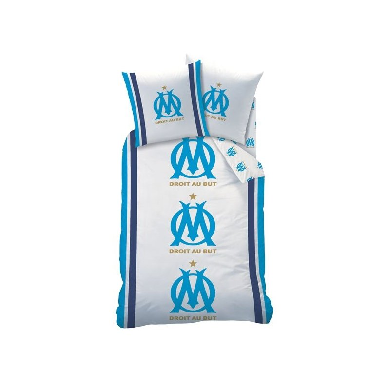 housse de couette om olympique de marseille parure de lit 1 personne. Black Bedroom Furniture Sets. Home Design Ideas
