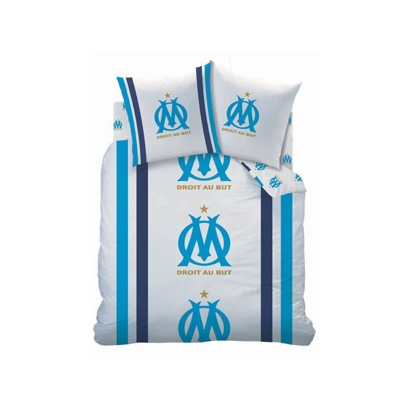 Parure de lit olympique de marseille 2 personnes 240x220 for Decoration murale juventus