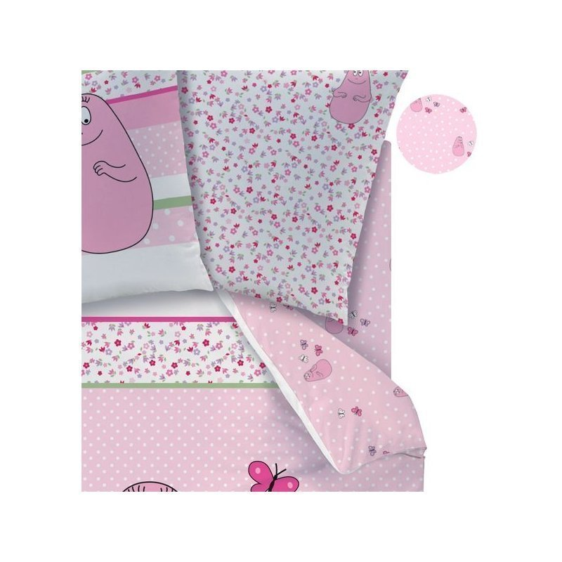 barbapapa drap housse pink pour lit 1 personne 90x190 200. Black Bedroom Furniture Sets. Home Design Ideas