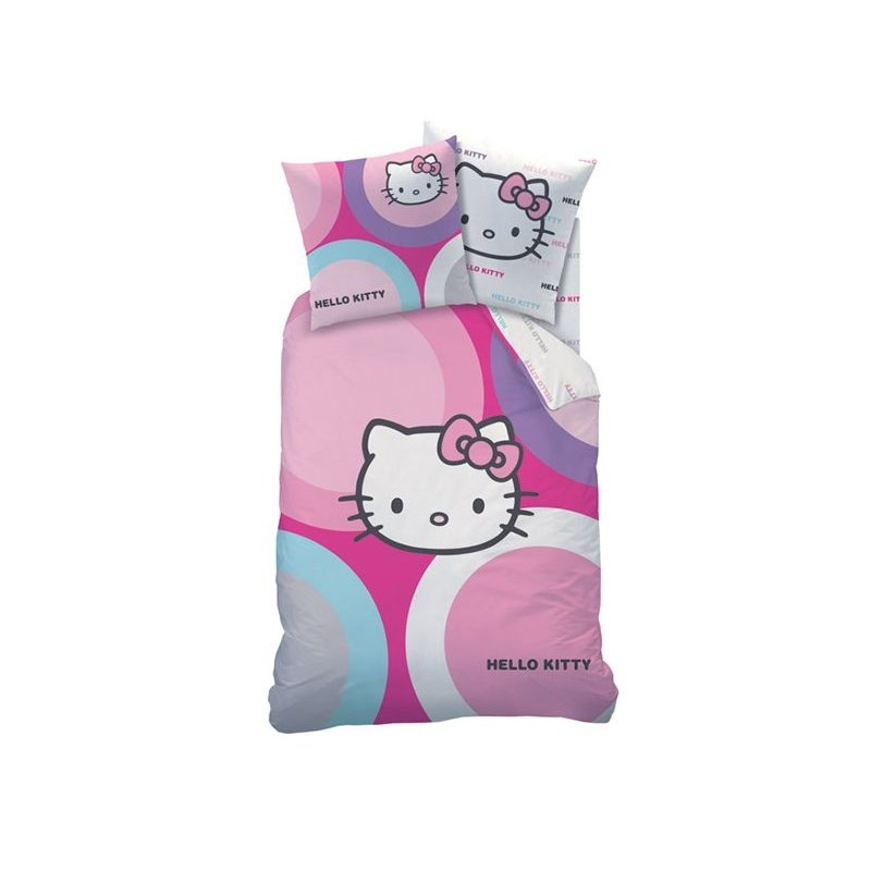 Hello kitty couette 1 personne pour fille d co chambre - Housse de couette hello kitty 1 personne ...