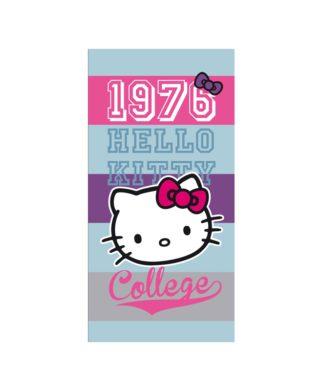 """Serviette de bain ou de plage Hello Kitty """"Britanny"""" 70x120 cm"""