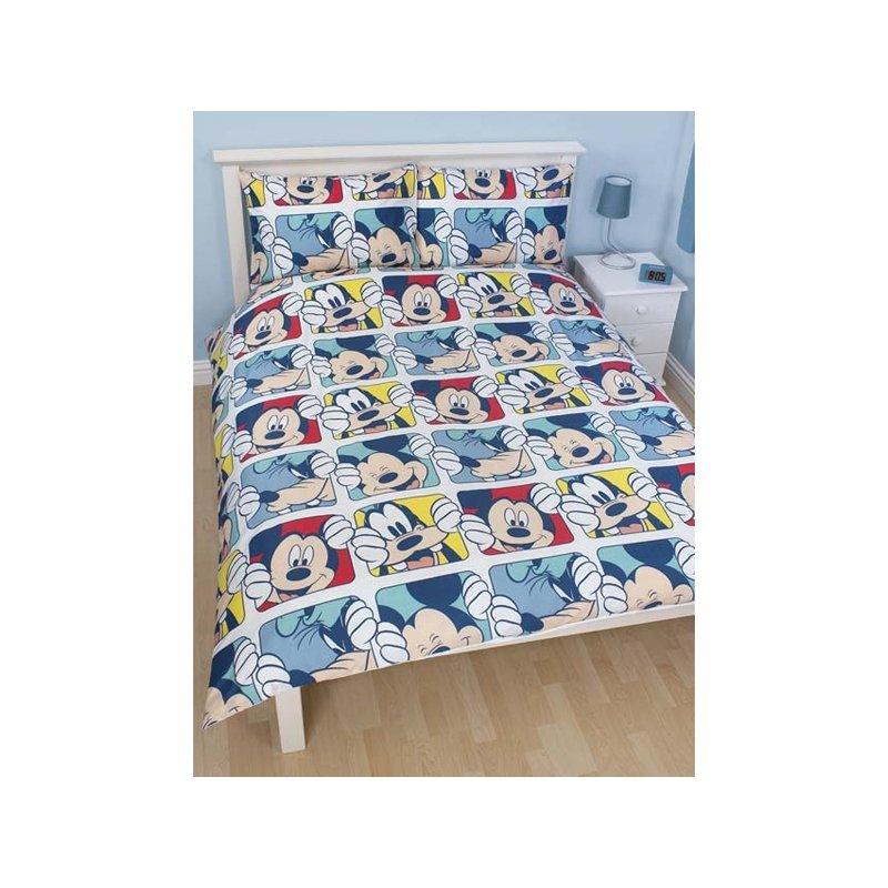 Parure de lit mickey pour 2 personnes couette double - Housse de couette mickey et minnie personnes ...