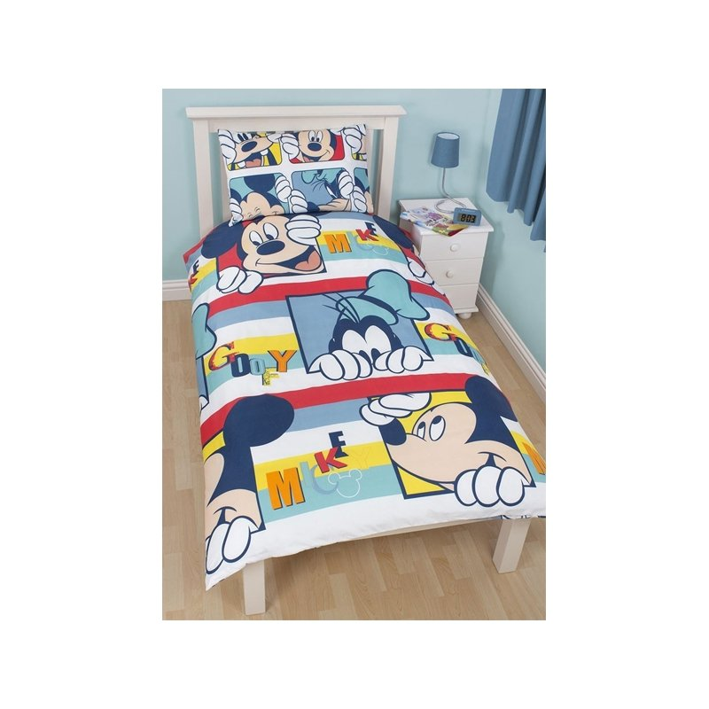 couette mickey et dingo pour matelas 1 personne. Black Bedroom Furniture Sets. Home Design Ideas