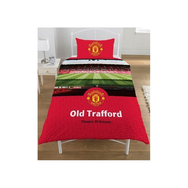 housse de couette manchester united pour lit 1 personne. Black Bedroom Furniture Sets. Home Design Ideas