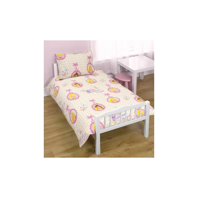 couette oreiller parure de lit princesses disney housse de couette 1 personne 70x140 petit lit. Black Bedroom Furniture Sets. Home Design Ideas