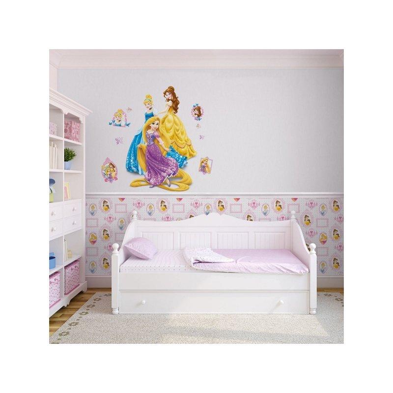 grands stickers muraux princesses disney raiponce belle. Black Bedroom Furniture Sets. Home Design Ideas