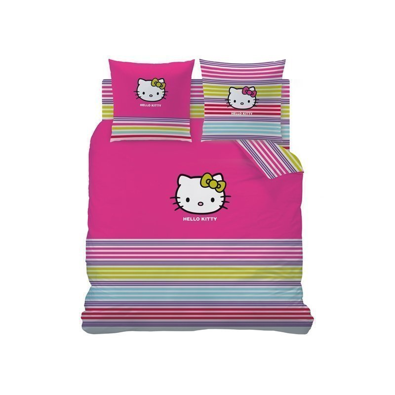 Housse de couette 240x220 hello kitty couture 2 personnes - Parure de lit hello kitty 2 personnes ...