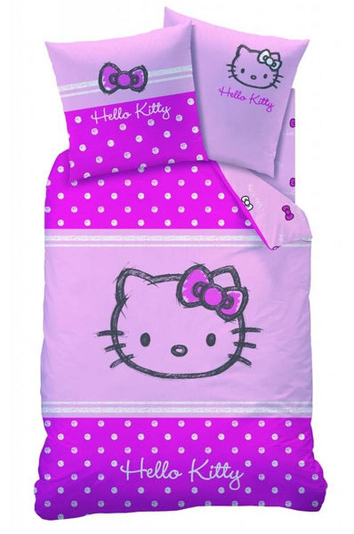 Couvre lit hello kitty simple hello kitty parure de lit for Lit fille hello kitty