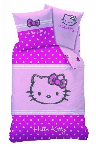 parure de lit 1 personne hello kitty lola 140. Black Bedroom Furniture Sets. Home Design Ideas