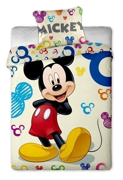 housse de couette avec taie mickey mouse disney 140x200. Black Bedroom Furniture Sets. Home Design Ideas