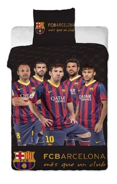 Parure de lit 140x200 fc barcelone football espagne for Decoration murale juventus