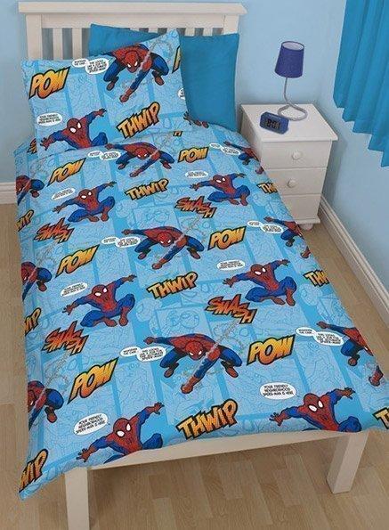 Housse couette spiderman 1 place 140x200 - Housse de couette iron man ...