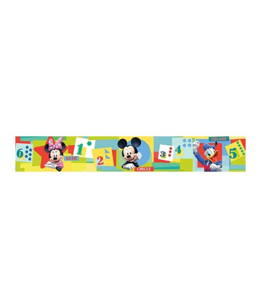 """Frise murale Mickey Mouse """"Numbers"""" 10,6 cm x 5 mètres"""