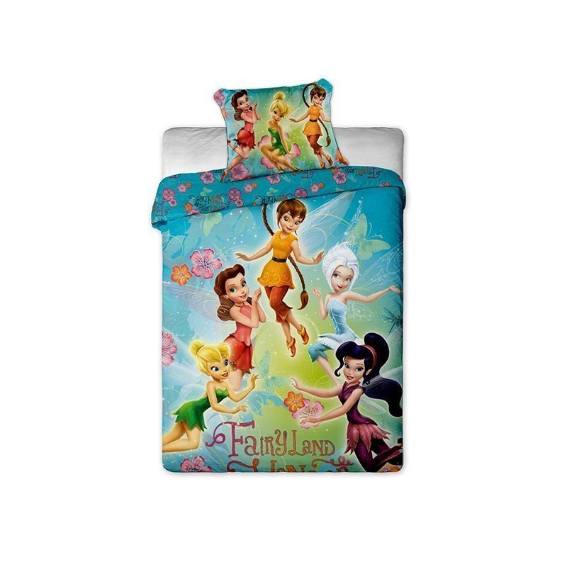 housse couette disney fairies enfant fille 140x200. Black Bedroom Furniture Sets. Home Design Ideas