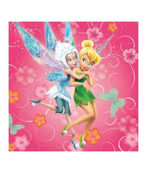 Coussin imprimé Disney Fairies Pinkie 40x40 cm