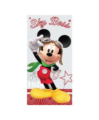 Serviette de bain Mickey Mouse Pilote 75x150 cm