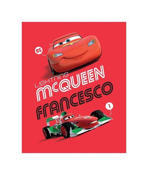 Plaid polaire Cars avec Flash et Francesco 120x150 cm