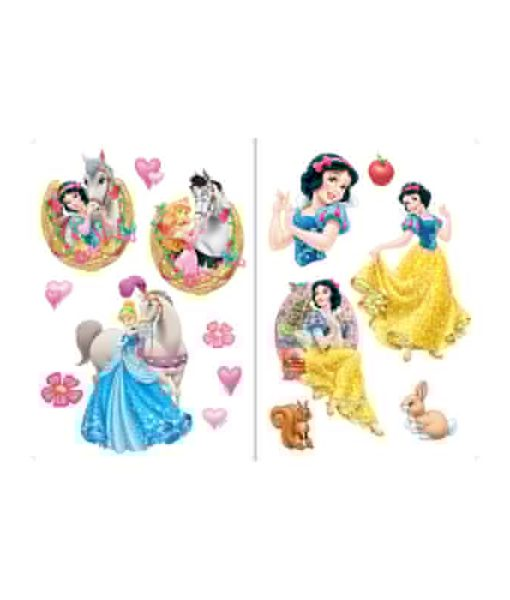 Grands stickers muraux Princesses Disney 45x65 cm
