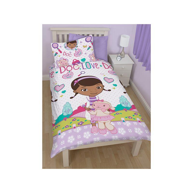 housse couette docteur la peluche enfant 140x200. Black Bedroom Furniture Sets. Home Design Ideas