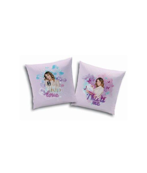 "Coussin Disney Violetta ""Love"" 40x40 cm"