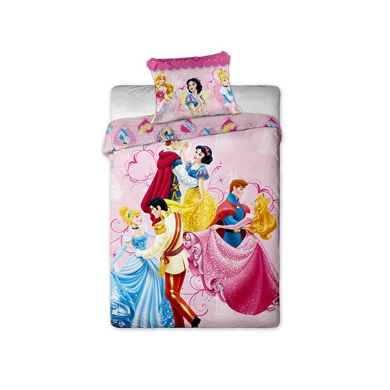 parure couette princesses disney au bal lit 1 personne. Black Bedroom Furniture Sets. Home Design Ideas